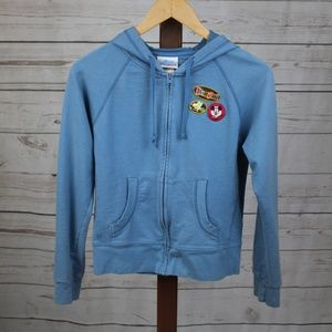 Disney Blue Sweatshirt with Character Patches